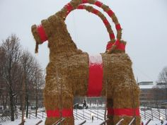 Enormous Olkipukki in Gävle,Sweden,  which has unfortunately been burnt or destroyed every year except 2006