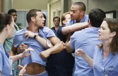 Justin Chambers, Sarah Drew, Chyler Leigh, and Jesse Williams in Grey's Anatomy (2005)