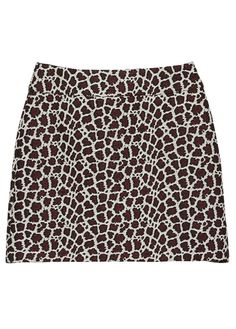 Mini jupe motif léopard Rouge by KOOKAI