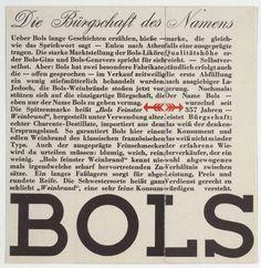 Herbert Bayer. Bols, Die Bürgschaft des Namens. Unknown