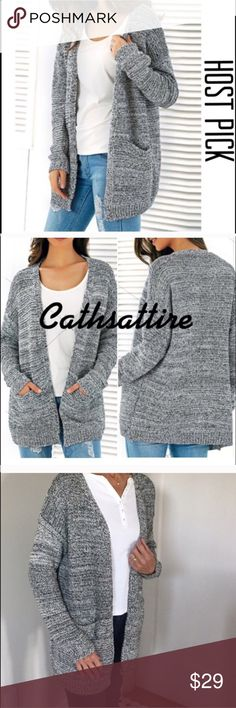 """Open Front Cardigan Cardigan, knitted and open front for fall.  Casual and comfy.  Bust 41"""". Length 25"""". So pretty. FIRM PRICE. Sweaters Cardigans"""