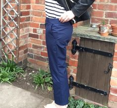 Navy Twill Cropped Trousers, Simplicity 1430