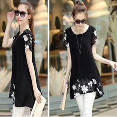 Chiffon Floral Tunic Tops For Women - Daisy Dress For Less - 3