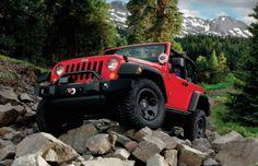 2011 Jeep Wrangler Rubicon equipped with Mopar front bumper Red Jeep, Jeep Brand, Jeep Suv, Jeep Wrangler Rubicon, Cool Jeeps, Black Rims, Jeep Life, Elvis Presley, Mopar