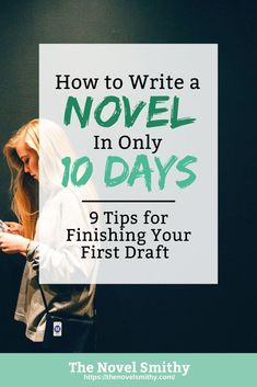 Many writers think writing a novel has to take years, but this isn& true. In fact, with the right plan in place, you can write your novel in just ten days! Creative Writing Tips, Book Writing Tips, Writing Words, Fiction Writing, Writing Process, Writing Resources, Start Writing, Writing Help, Writing Skills