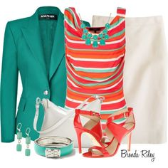Balmain Emerald Blazer, created by brendariley-1 on Polyvore