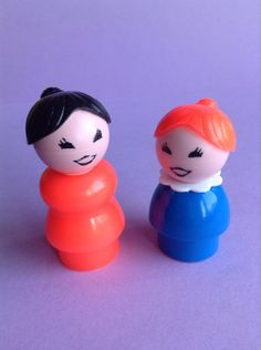 Fisher Price Little People set of 2 mom and by GirlyStuffByDeJaVu, $10.00