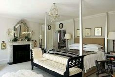 Luxurious four posted silver bed