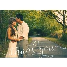 Swirl Wedding Thank You Card