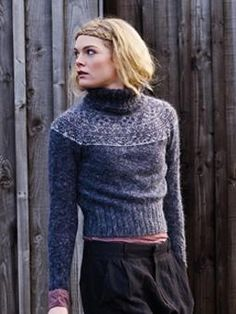 This fitted, cropped fairisle sweater has been designed by Marie Wallin using Colourspun and Kid Classic.