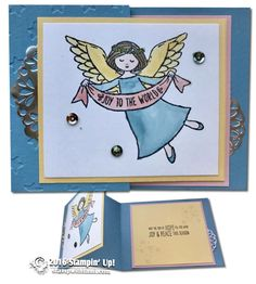 CARD: Wonder of Christmas Z-Fold Angel Card | Stampin Up Demonstrator - Tami White - Stamp With Tami Crafting and Card-Making Stampin Up blog