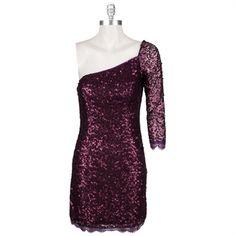Jessica Simpson Sequined One-Shoulder Dress #VonMaur