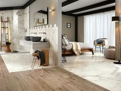 Combinations of natural materials to create something new and exciting bathroom-design-colors-materials