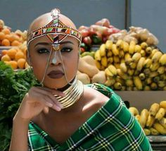 Ntando Duma shared some of the most sizzling pictures of the season so far! Ntando Duma shot a campaign in Soweto for an accessories brand, and she looked African Tribes, African Diaspora, African Braids, Gold Chocker, Duma, Barrettes, Black Pride, Afro Punk, African Attire