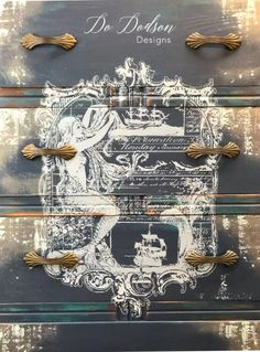 How To Add Beautiful Transfers On Furniture - Do Dodson Designs painted furniture furniture whimsical furniture distressed furniture diy