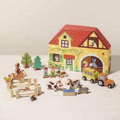 Farm Play Set with adorable cardboard storage box ;-)