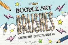 Doodle Brushes by @Graphicsauthor