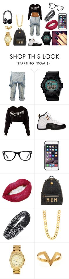 """""""#21"""" by taymoney432 ❤ liked on Polyvore featuring Crafted, G-Shock, Retrò, Muse, Black Apple, MCM, Forever 21, Michael Kors, Janis Savitt and Beats by Dr. Dre"""