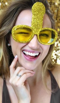 Looking for gold bachelorette party favors - look no further! These sully bachelorette shades will be the talk of the night! Sparkle Bachelorette Party, Bachelorette Party Themes, Bachelorette Weekend, Bachlorette Party, Wedding Party Games, Wedding Ideas, Lingerie Party, Glitter, Sully