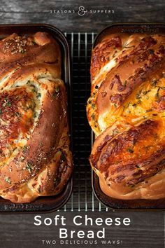 Soft Cheese Bread: Two Ways. Soft Cheese Bread: Two Ways - cheddar & herb and Parmesan garlic & herb. Bagels, Bread Bun, Herb Bread, Homemade Cheese, Homemade Recipe, Homemade Breads, Artisan Bread, Low Calorie Recipes, Bread Baking