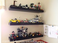 floating shelves for legos