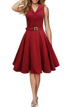 Retro red dress