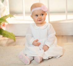 c7d264c51b Basia biała z długim rękawem Ubranka do chrztu. Sukienka na chrzest. Ubranka  dla dziewczynki