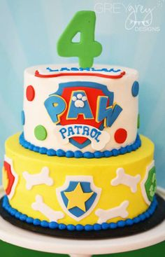 Paw Patrol birthday party cake! See more party ideas at CatchMyParty.com!