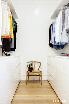 Our walk-in closet Closet Bedroom, Home Bedroom, Bedroom Decor, Master Closet, Walk In Closet Inspiration, Home Decor Inspiration, Decor Ideas, Open Wardrobe, Wardrobe Closet