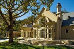 French Country House traditional patio
