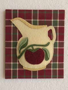 Wool Pitcher with Apple - lovely!