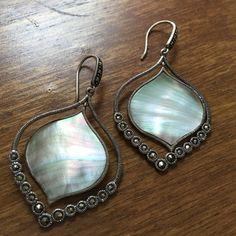 Silpada earrings Silver and abalone earrings Silpada Jewelry Earrings