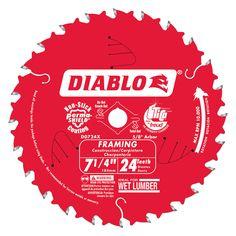 "Diablo D0724X 7-1/4"" Saw Blade With 24 Teeth"
