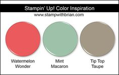 Stampin' Up! Color Inspiration: Watermelon Wonder, Mint Macaron, Tip Top Taupe