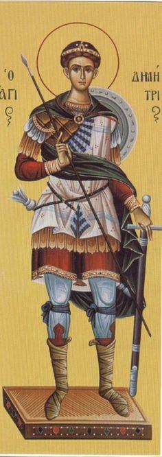 Άγιος Δημήτριος / Saint Demetrios Religious Images, Religious Icons, Religious Art, Early Christian, Christian Faith, Greek Icons, Church Icon, Saints And Sinners, Russian Icons