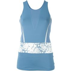 Adidas By Stella Mccartney Run Clima Tank Top (€71) ❤ liked on Polyvore featuring activewear, activewear tops, blue, adidas, adidas sportswear and adidas activewear