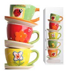 Fabric Fridge sticker CUPS by Sticky!