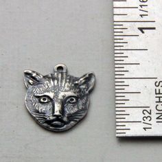 Vintage Metal Cat  Pendant Charms by oscarcrow on Etsy