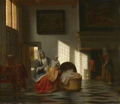 İç Mekânda Anne ile Çocuk / Interior with Mother and Child  Pieter de Hooch (1629-1684)