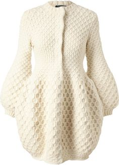 ALEXANDER MCQUEEN Honeycomb Knitted Wool Cardigan