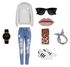 """Untitled #1"" by nermin-cergic ❤ liked on Polyvore featuring adidas, Ray-Ban, Larsson & Jennings, women's clothing, women's fashion, women, female, woman, misses and juniors"