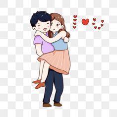 Hug Cartoon, Cartoon Photo, Couple Cartoon, Valentine Cartoon, Hug Illustration, Couple Clipart, Hand Clipart, Best Friend Status, Couple Hands