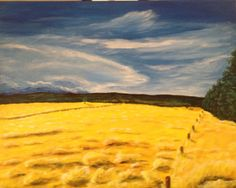 Late in the Afternoon. Ross Watt Road Gisborne Victoria - Artist Bruce Goodchild