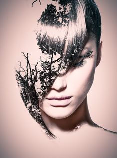 Hairstyle by julien longo on 500px Photo Manipulation, Face Art, Creative Photography, Portrait Photography, Audre Lorde, Komposition, Double Exposure Photography, Montage Photo, Multiple Exposure