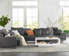 Dania - Sink into the all-around comfort of the Cepella sectional. With plenty of room for the entire family, this sectional combines a low-profile, detailed tufting, wide track arms with chrome legs that looks great from every angle.Choose from a wide selection of fabrics to create a custom look. Prices and delivery times may vary on special orders.