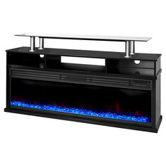 Lifesmart Uptown Series 60 Media Console Fireplace w/Northern Lights FX - Black