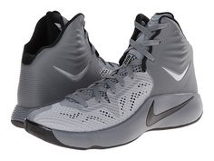 hot sale online 9b137 f68bf Nike Zoom Hyperfuse 2014 Cool Grey Wolf Grey Black - Zappos.com Free