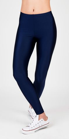 PCP Jaqueline - dark blue shiny leggings