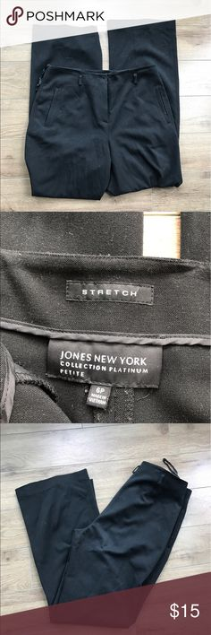 """Jones New York dress pants stretch 30"""" inseam 6p Jones New York dress pants stretch 30"""" inseam 6p.  Super stylish and comfy. Excellent condition. From non-smoking, non-pet home.  💋Add to bundle to save on shipping costs! Don't forget to add any two things in my closet and receive an extra 10% off! no trades. Jones New York Pants Trousers"""