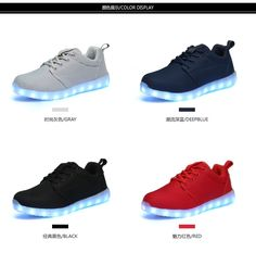 canvas ADULTS walking shoes type led flash roller skate shoes light